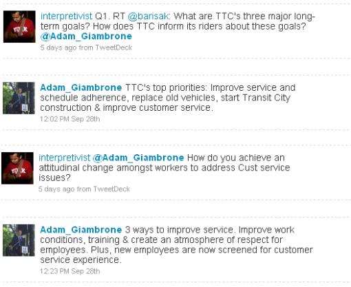 Adam Giambrone twitter interview